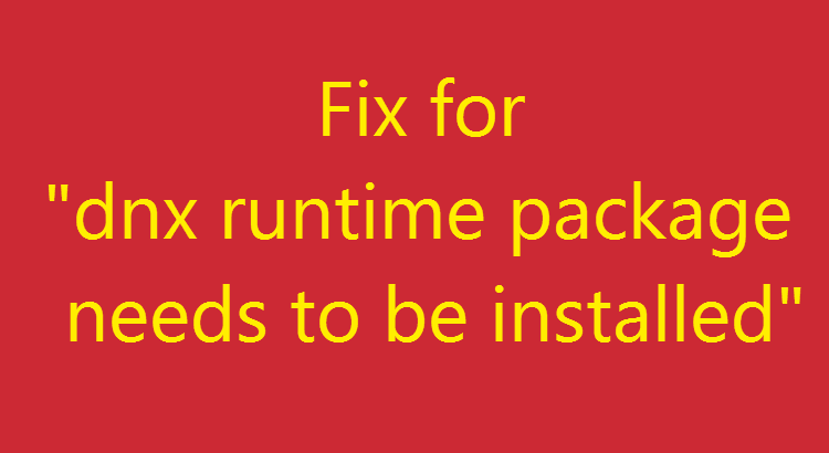 dnx runtime package