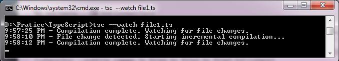 TypeScript compiler watch option