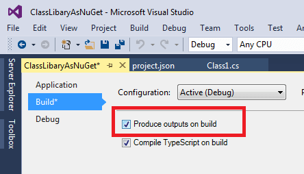 Create Class Library Package as Nuget step 2