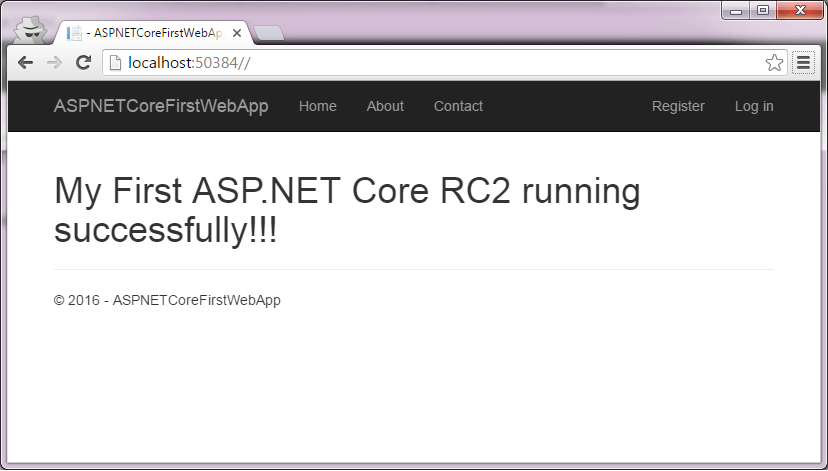 ASPNETCoreRC2App running in browser