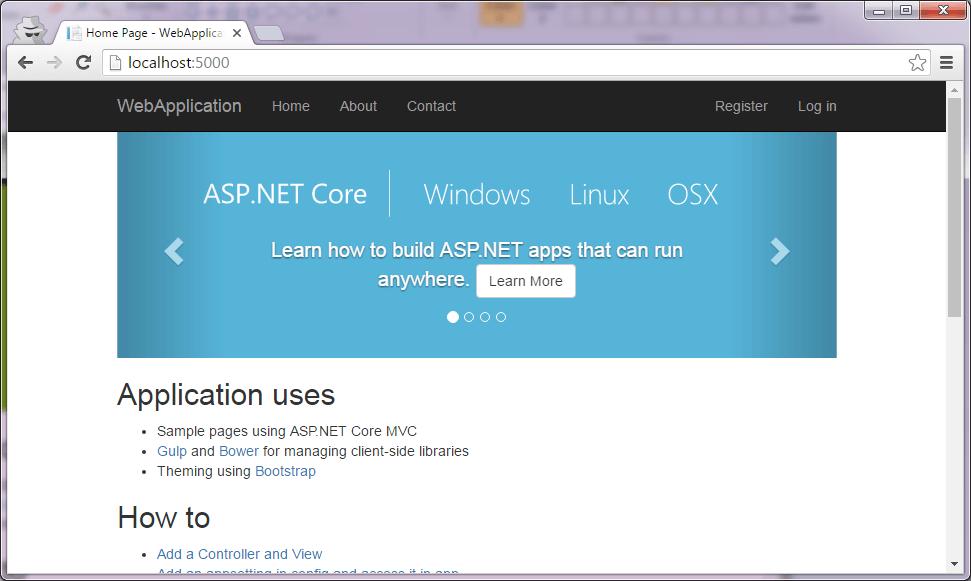 ASP.NET Core app running in browser