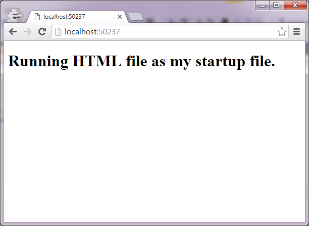 HTMLAsStartup_running in browser