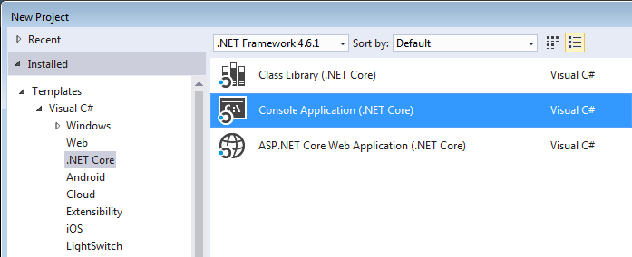 .NET Core Console application