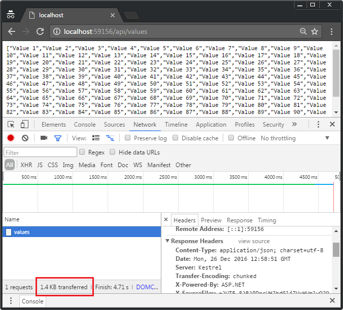Enable gzip compression in ASP.NET Core