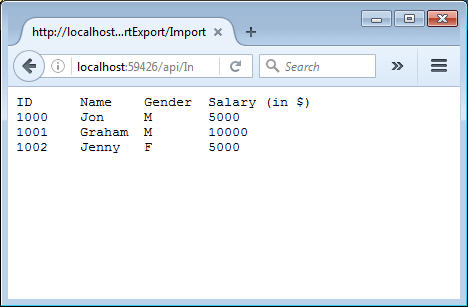 Import and Export xlsx in ASP NET Core