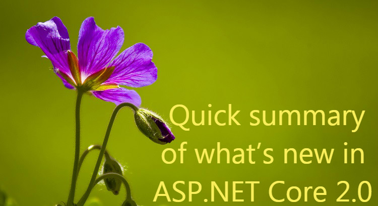 Quick summary of what's new in ASP.NET Core 2.0