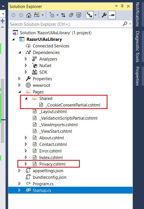 ASP.NET Core 2.1 Application Structure