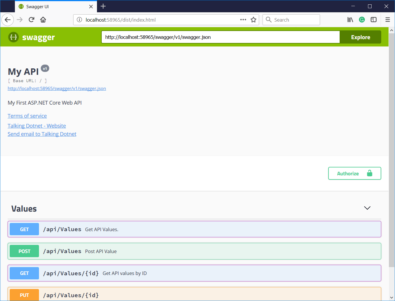 Create Petstore like Swagger UI for ASP.NET Core WEB API