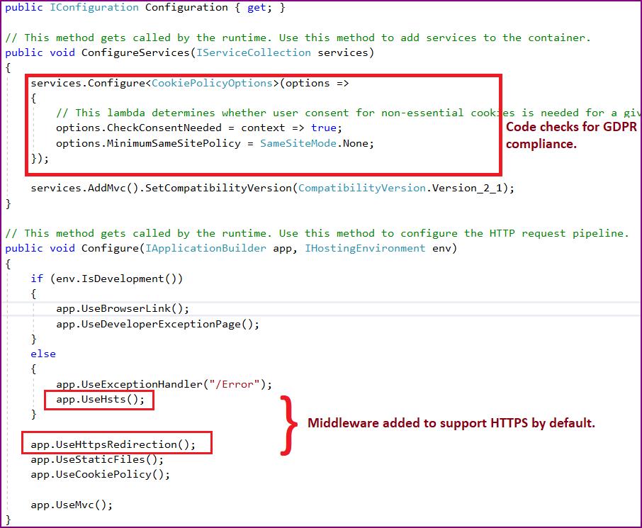 ASP.NET Core 2.1 Startup changes