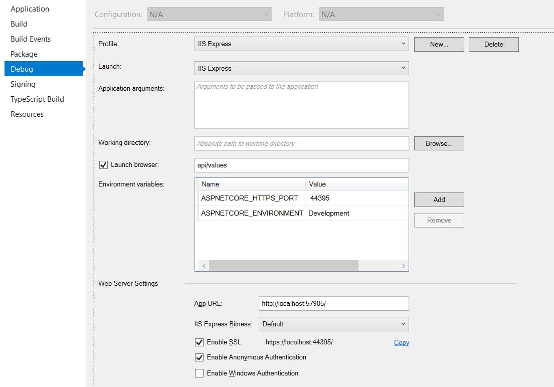 Enable SSL for ASP.NET Core 2.1