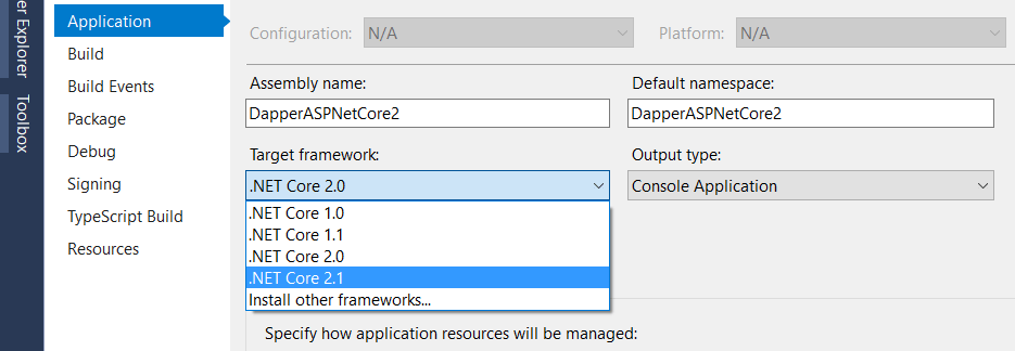 Migrate existing .Net Core application to .Net Core 2.1