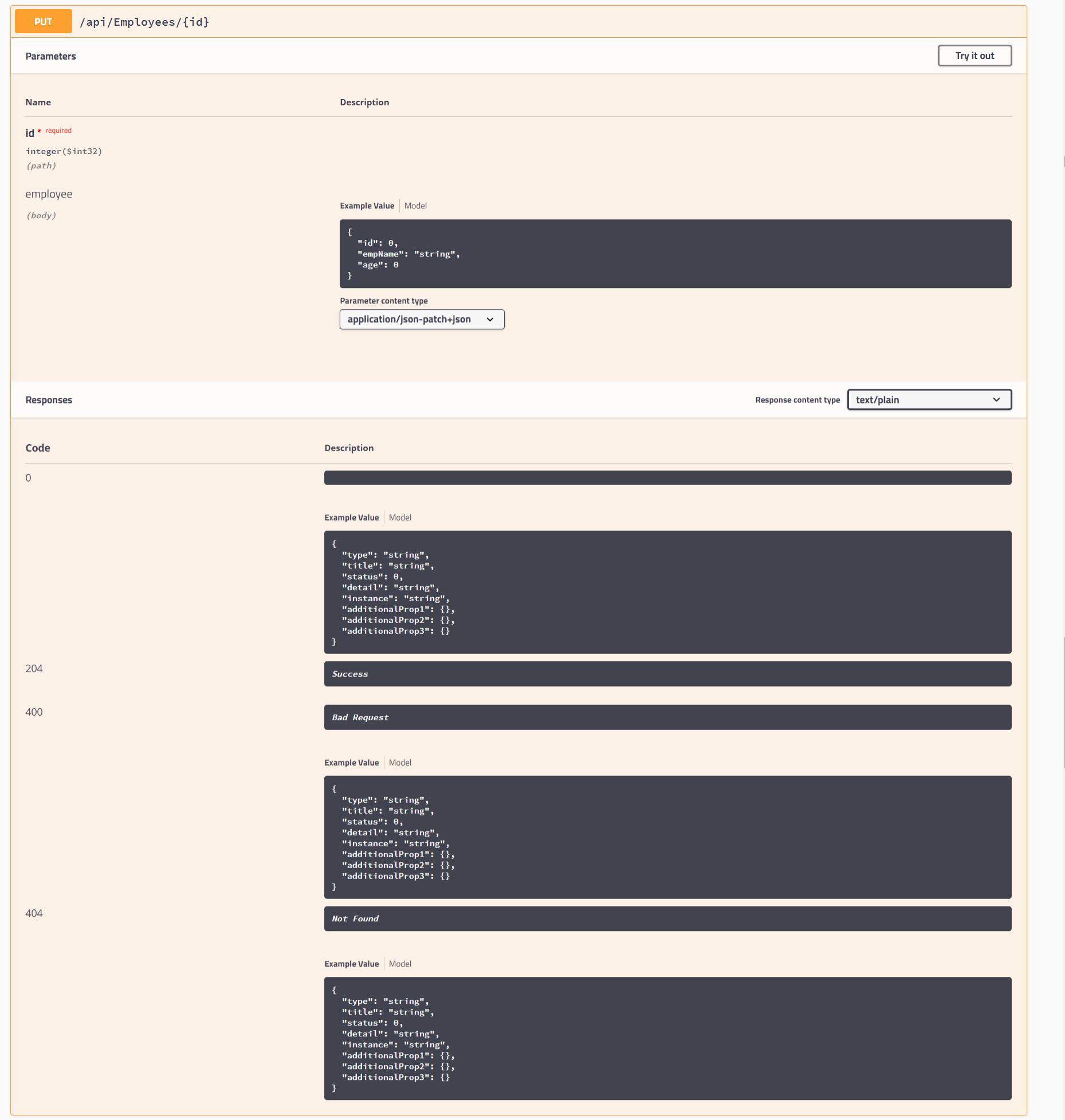 Swagger documentation after using API analyzers