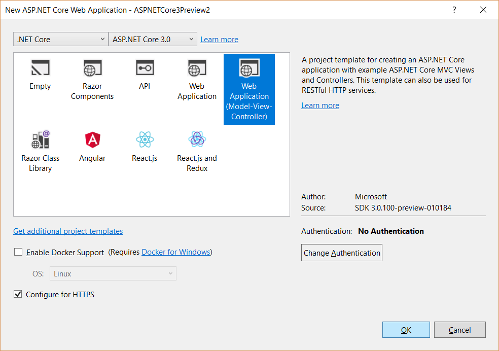 ASP.NET Core 3.0 App with .NET Core 3.0 preview 2 release_2